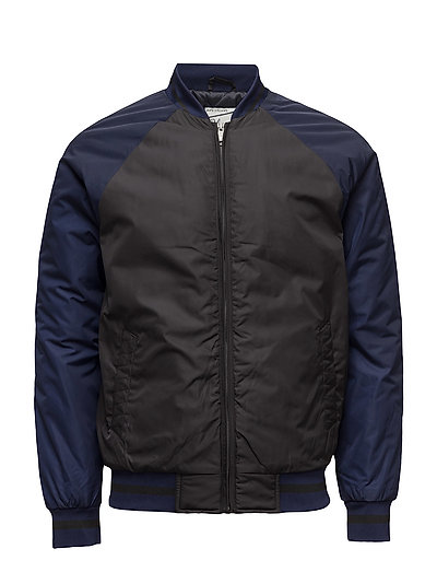 College inspired bomber jacket in nylon twill quality - COMBO B