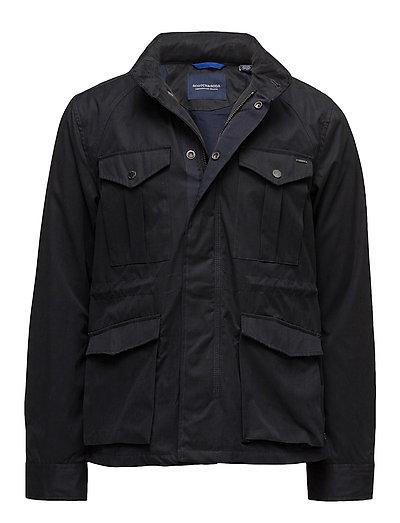 Ams Blauw 4 pocket military jacket - MIDNIGHT