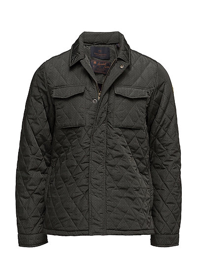 Lightweight quilteshirt jacket in nylon quality - COMBO B