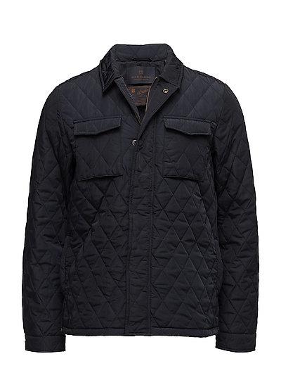 Lightweight quilteshirt jacket in nylon quality - NIGHT