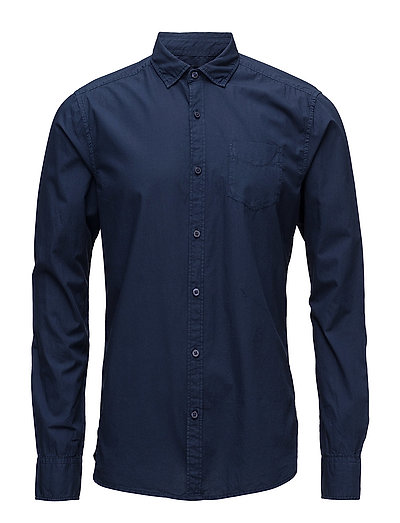 Ams Blauw lightweight crispy shirt slim fit - NIGHT