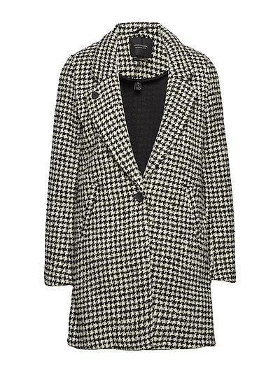 SCOTCH & SODA Bonded Wool Jacket In Checks And Solids Wollmantel Mantel Schwarz SCOTCH & SODA