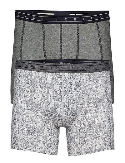 All-over printed boxer short in grey melange quality - COMBO C