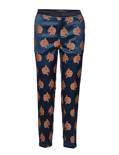 Tailored pants in special snow leopard jacquard - COMBO J