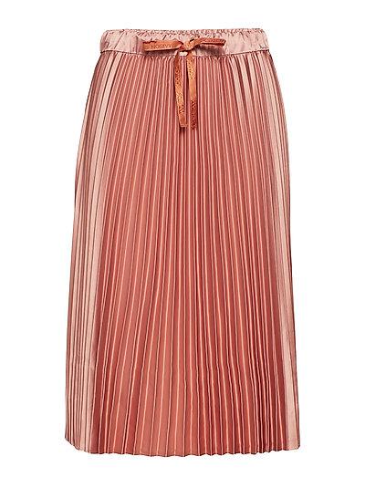 Shiny pleated skirt - BLOSSOM