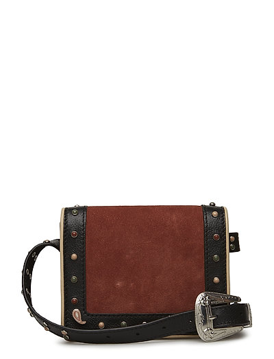 Suede & leather mixed western belt bag - COMBO A