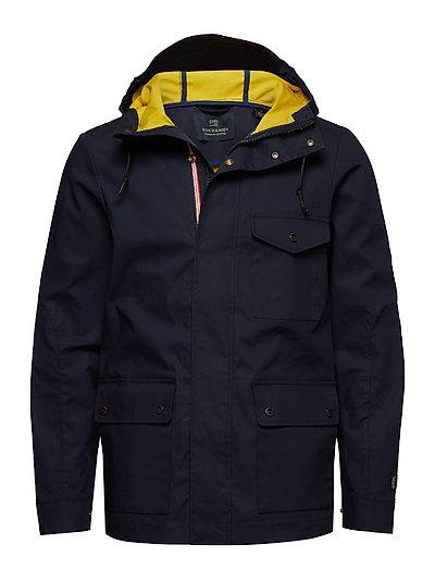 SCOTCH & SODA Mid-Length Hooded Jacket Parka Jacke Blau SCOTCH & SODA