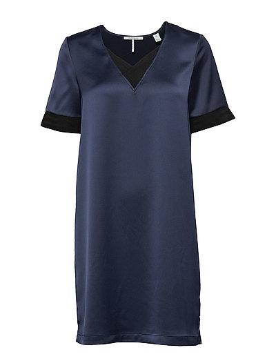 SCOTCH & SODA V-Neck Dress With Rib Details Kurzes Kleid Blau SCOTCH & SODA