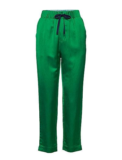 Tailored Jogger Pants In Viscose-Linen Quality Hose Mit Geraden Beinen Grün SCOTCH & SODA