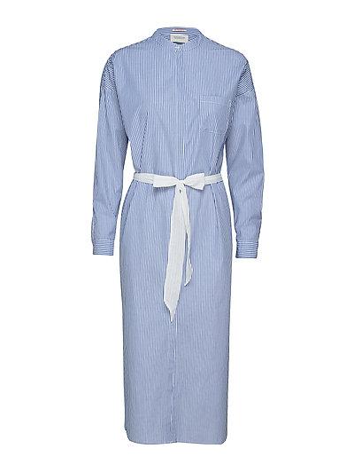 Longer Length Shirt Dress Kleid Knielang Blau SCOTCH & SODA