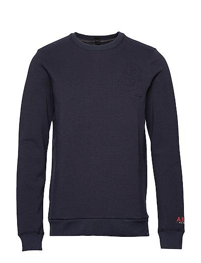 Brutus Ams Blauw Colab Sweat With Detachable Bandana Sweat-shirt Pullover Blau SCOTCH & SODA