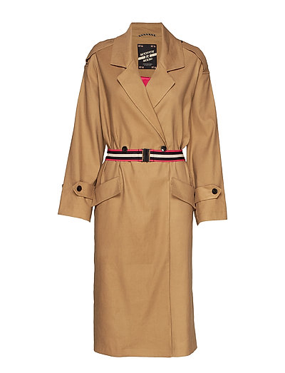 Longer Length Drapy Trench Coat Comes With A Waist-Belt Trenchcoat Mantel Beige SCOTCH & SODA