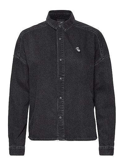 Brutus Ams Blauw Colab Black Denim Shirt Langärmliges Hemd Schwarz SCOTCH & SODA