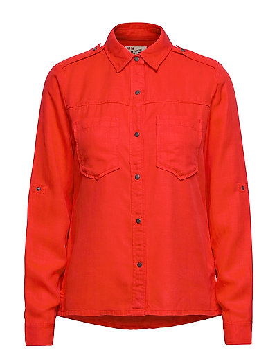 Workwear Inspired Shirt In Drapy Quality Langärmliges Hemd Rot SCOTCH & SODA