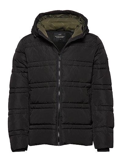 Classic Hooded Primaloft Jacket Gefütterte Jacke Schwarz SCOTCH & SODA