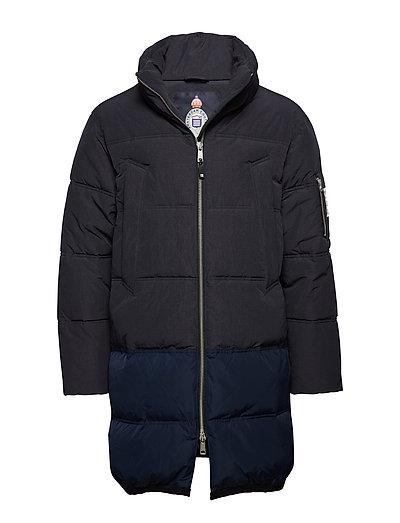 Long Quilted Down Jacket Gefütterte Jacke Blau SCOTCH & SODA
