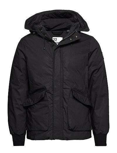 Short Hooded Jacket With Inside Quilting Gefütterte Jacke Schwarz SCOTCH & SODA