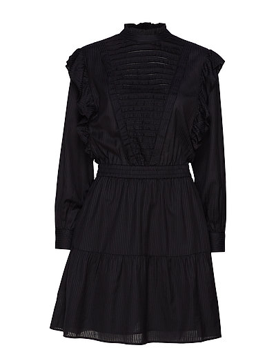 Dress With Ruffles And Ladder Details Kleid Knielang Schwarz SCOTCH & SODA