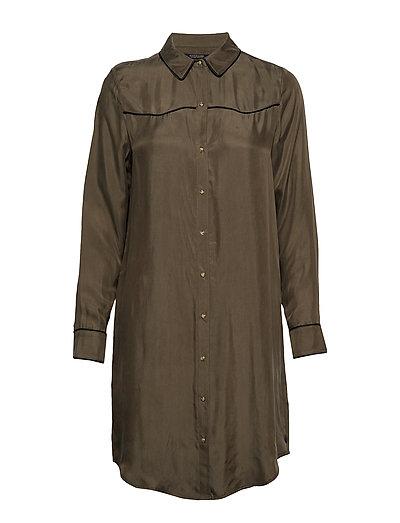 Shirt Dress In Cupro Viscose Blend Kleid Knielang Grün SCOTCH & SODA
