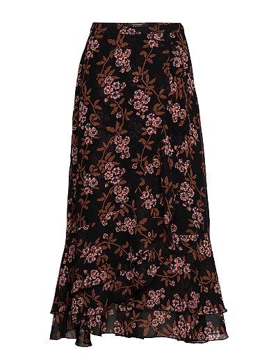 SCOTCH & SODA Printed Maxi Skirt Langes Kleid Braun SCOTCH & SODA