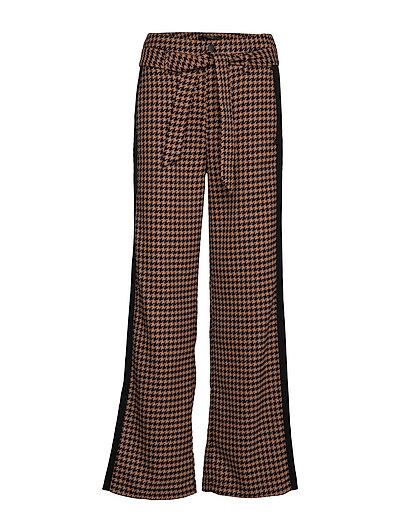 Wide Leg Pants With Contrast Side Panel Hosen Mit Weitem Bein Braun SCOTCH & SODA