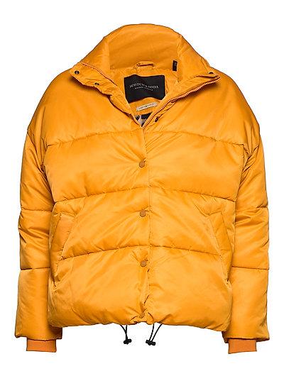 Short Technical Jacket In Solids With Artworks Gefütterte Jacke Gelb SCOTCH & SODA