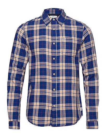 SCOTCH & SODA Light Weight Brushed Flannel Shirt In Pop Colours Hemd Casual Blau SCOTCH & SODA