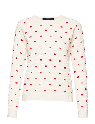 SCOTCH & SODA Long Sleeve Pull In Various Allover Print Strickpullover Weiß SCOTCH & SODA