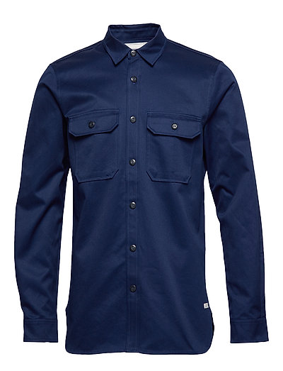 Ams Blauw Clean Twill Utility Shirt Hemd Casual Blau SCOTCH & SODA