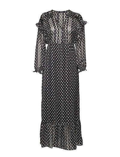 Sheer Feminine Maxi Dress With Allover Print Kleid Knielang Bunt/gemustert SCOTCH & SODA