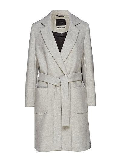 Wool Wrap Coat With Belt Wollmantel Mantel Grau SCOTCH & SODA