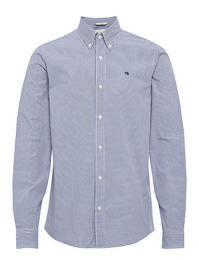 Nos Crispy Poplin Shirt Relaxed Fit Button Down Collar Hemd Casual Blau SCOTCH & SODA