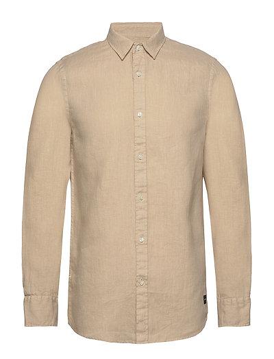 Regular Fit- Classic Linen Dress Shirt Hemd Casual Beige SCOTCH & SODA
