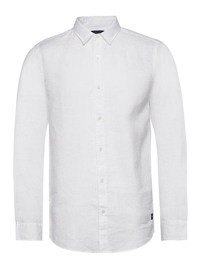 Regular Fit- Classic Linen Dress Shirt Hemd Casual Weiß SCOTCH & SODA