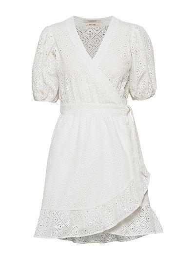 Wrap Dress In Broderie Anglaise Kurzes Kleid Weiß SCOTCH & SODA