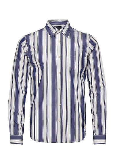 Longsleeve Shirt In Classic Stripes Hemd Casual Blau SCOTCH & SODA