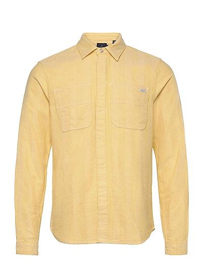 Longsleeve Shirt In Mid Weight Flannel Hemd Casual Gelb SCOTCH & SODA