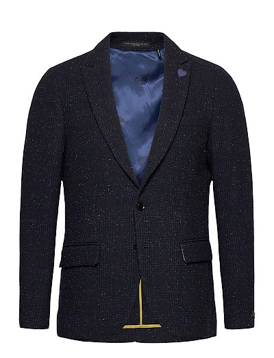 Classic Single-Breasted Neps Wool-Blend Blazer Blazer Jackett Blau SCOTCH & SODA