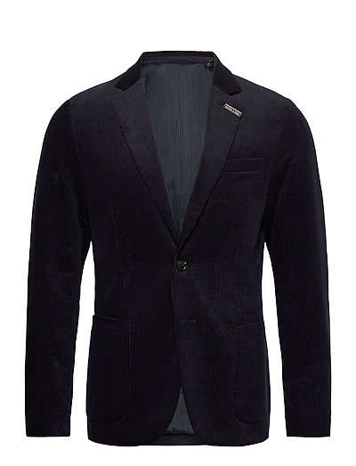 Single-Breasted Half-Lined Soft Corduroy Blazer Blazer Jackett Blau SCOTCH & SODA