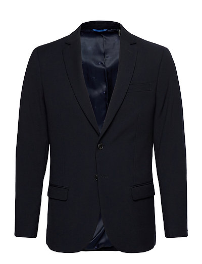 Classic Single-Breasted Blazer In Yarn-Dyed Pattern Blazer Jackett Blau SCOTCH & SODA