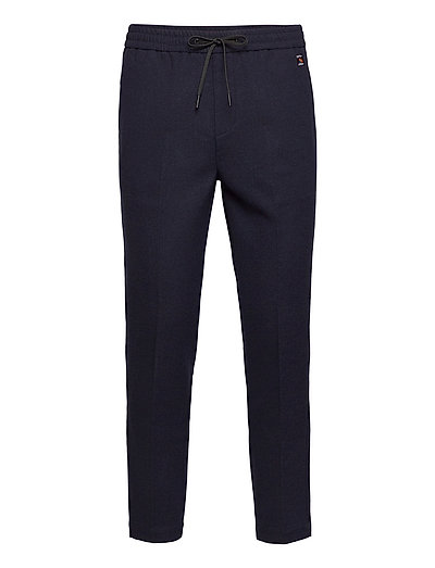 Fave - Bonded Wool-Blend Pant With Elasticated Waistband Hosen Casual Alltagshosen Blau SCOTCH & SODA | SCOTCH & SODA SALE