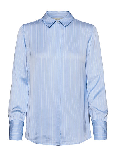Regular Fit Viscose Shirt Langärmliges Hemd Blau SCOTCH & SODA