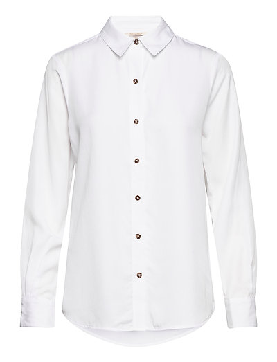 Classic Shirt In Lyocell Quality Langärmliges Hemd Weiß SCOTCH & SODA | SCOTCH & SODA SALE