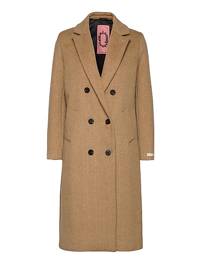 Tailored Double Breasted Coat Wollmantel Mantel Beige SCOTCH & SODA