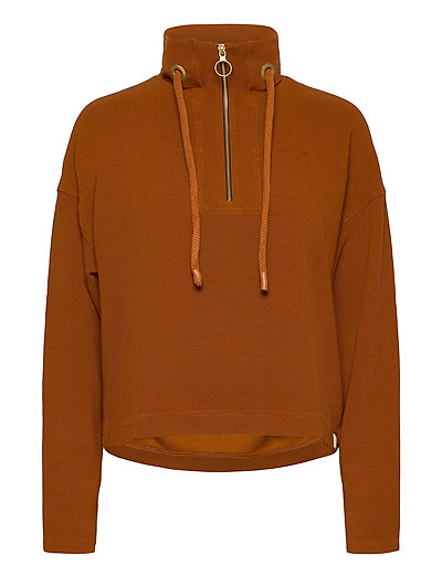 Anorak Sweat In Structured Quality Sweat-shirt Pullover Braun SCOTCH & SODA