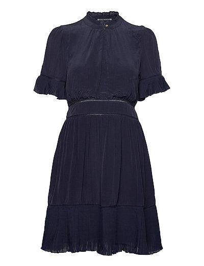 Feminine Viscose Dress With Pleating Details Kurzes Kleid Blau SCOTCH & SODA