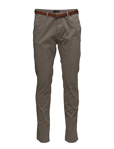SCOTCH & SODA Slim Fit Cotton/Elastan Garment Dyed Chino Pant Chinos Hosen Braun SCOTCH & SODA