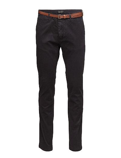 Slim Fit Cotton/Elastan Garment Dyed Chino Pant Chinos Hosen Schwarz SCOTCH & SODA