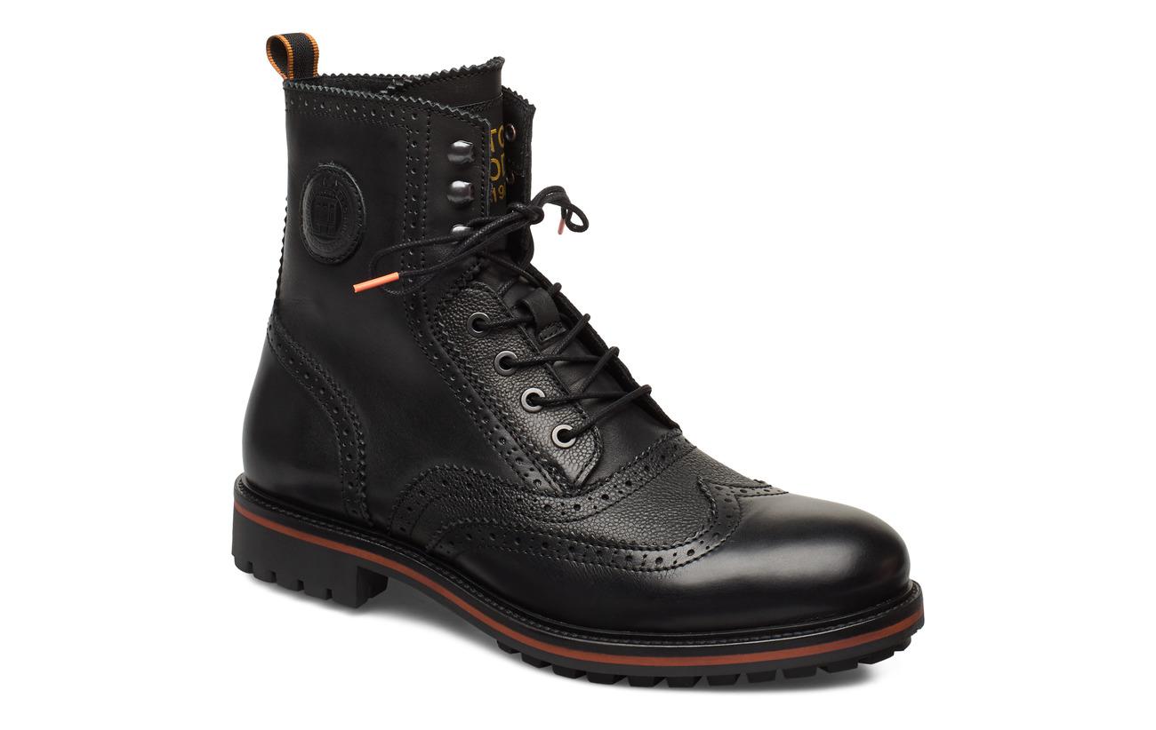Scotch & Soda Shoes Borrel Mid laceboot - BLACK