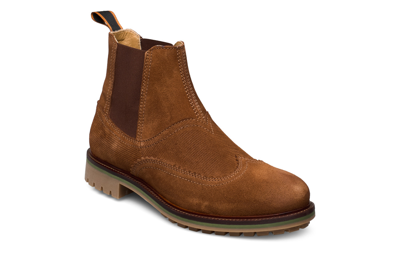 Scotch & Soda Shoes Borrel Mid laceboot - COGNAC